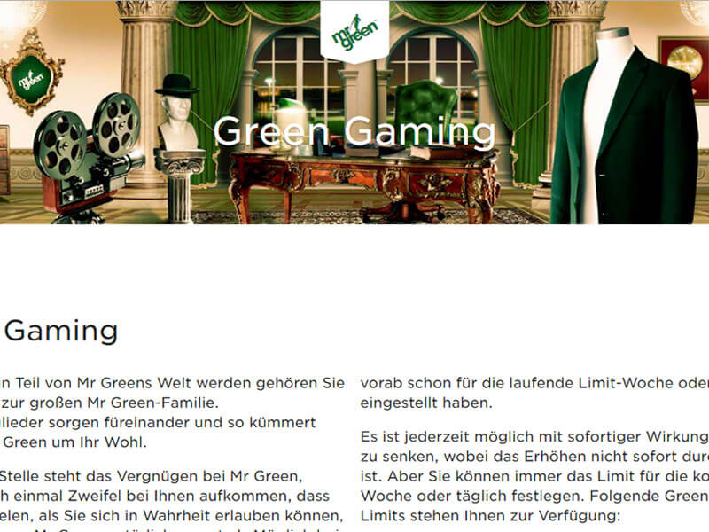 Mr Green Casino Bewertung
